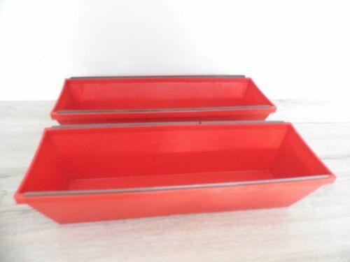 2 x Spachtelkasten Kunststoff 350 x 120 mm rot beidseitige Abstreifkante
