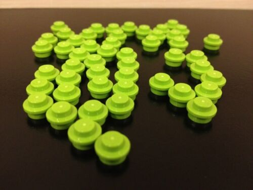 100 Lime Green 1x1 Round Dot Flat Plate LEGO NEW Bulk Lot