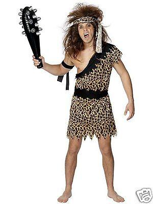 Caveman Costume Adult Mens Jungle Tarzan Club Cave Man Fancy Dress M L XL