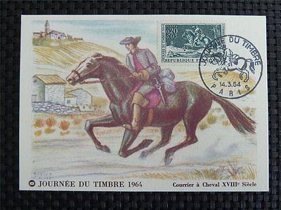 France Mk 1964 Horse Pferd Pferde Maximumkarte Carte Maximum Card Mc Cm C1217 Fabriken Und Minen Briefmarken