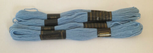 4 X COTTON SKEINS COLOURED EMBROIDERY THREAD CROSS STITCH BRAIDING CRAFT SEWING
