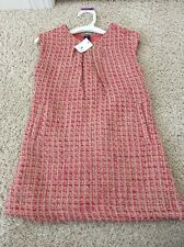NWT Baby Gap Portobello Girls 3 Years Pink Boucle Party Dress Gold Sparkle