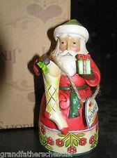 JIM SHORE HEARTWOOD CREEK CHRISTMAS SPIRIT SANTA WITH STOCKING 4034369 BNIB