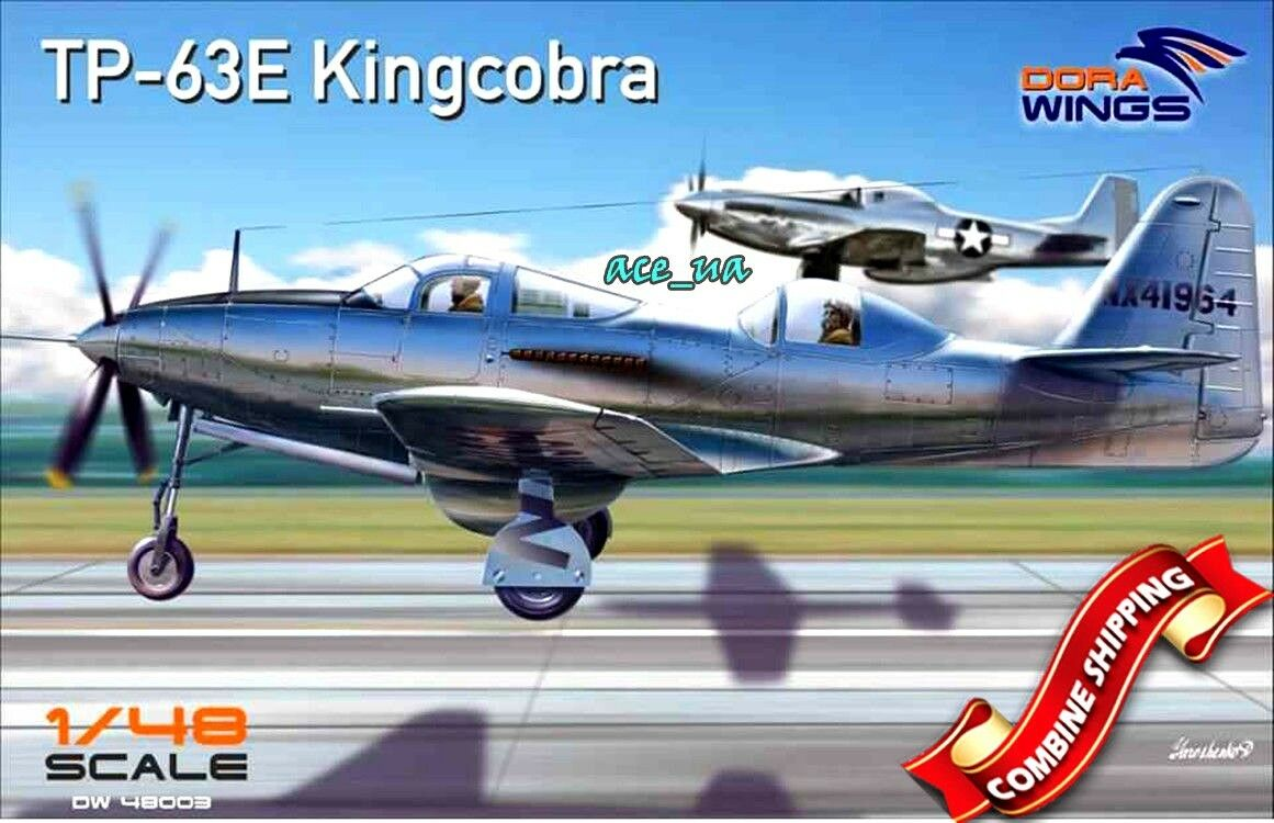 Bell TP-63E Kingcobra (PE parts, Decal) Plastic Model Kit 1 48 Dora Wings 48003
