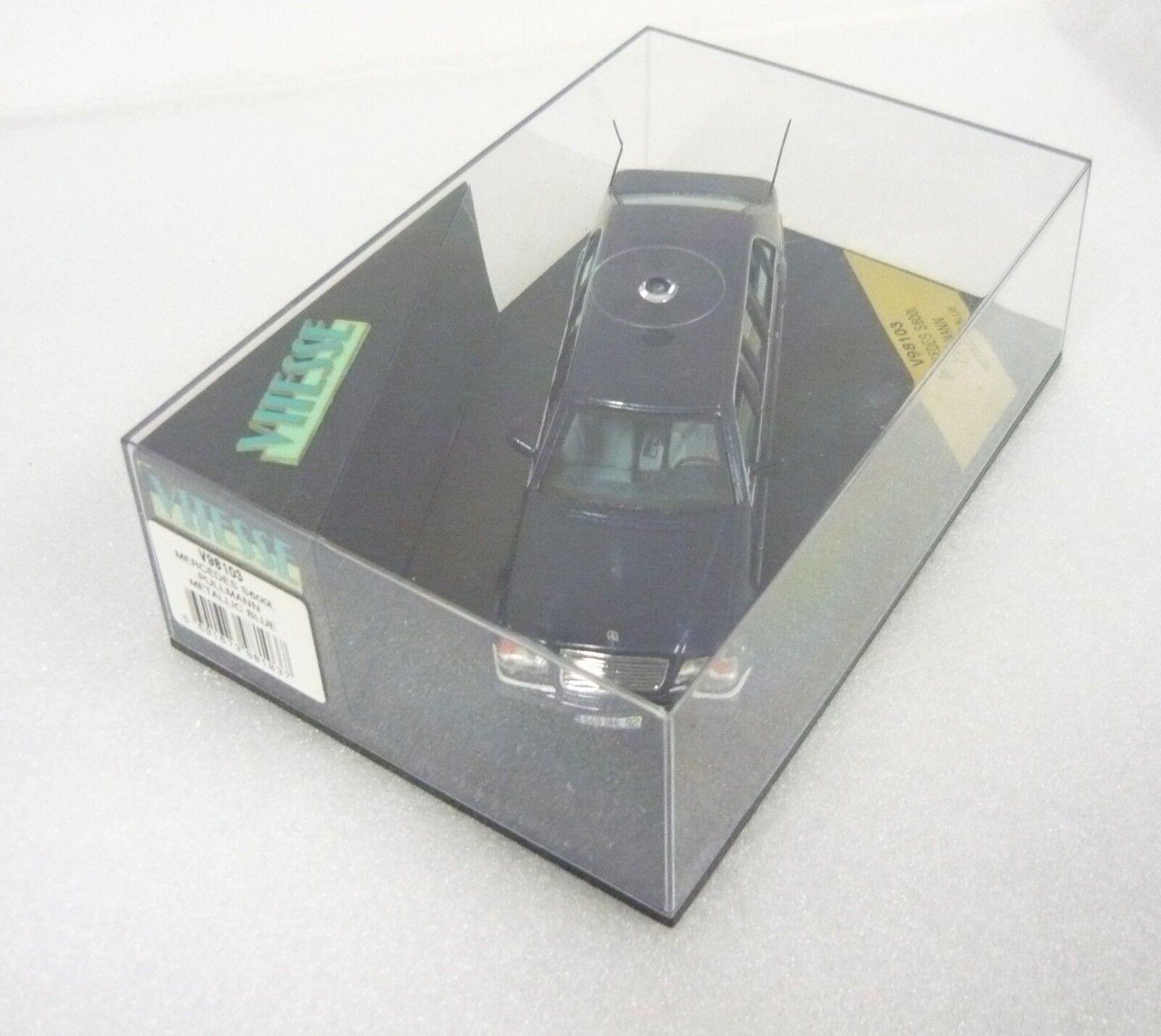 Vitesse v98103, mercedes s 600 L, Delux 1998, 1998, 1998, metalizado azul, lim., 1 43,neu&ovp b14e34