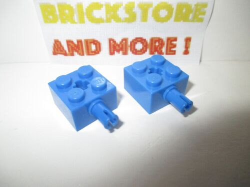 Lego 2x Brick Brique Modified 2x2 Pin and Axle Hole 6232 Bleu//Blue//Blau