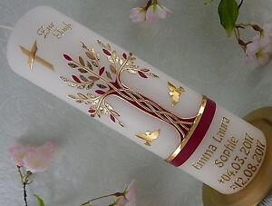 Hochzeitskerze Rot Gold