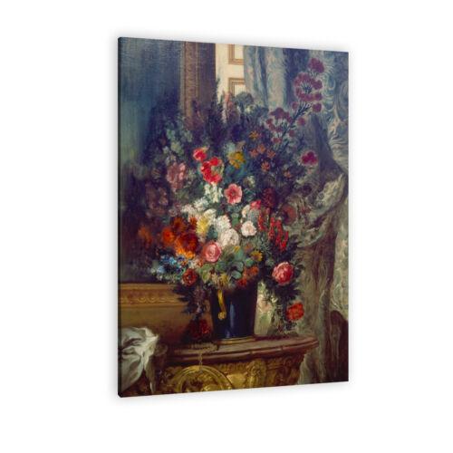 """/""""Vase mit Blumen auf einer Konsole/"""" WANDKINGS Leinwandbild Eugène Delacroix"""