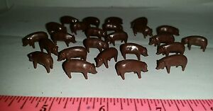 1-64-ERTL-farm-country-Toy-Qte-de-25-adultes-Duroc-Brown-cochons-porcs-new-in-package