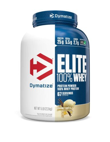 25g Protein 5.5g BCAAs /& 2.7g L-Leu... Dymatize Elite 100/% Whey Protein Powder