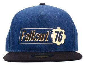 947bb447b7611 Fallout 76 Badge Logo - Snapback Baseball Cap - Unisex - Blue Black ...