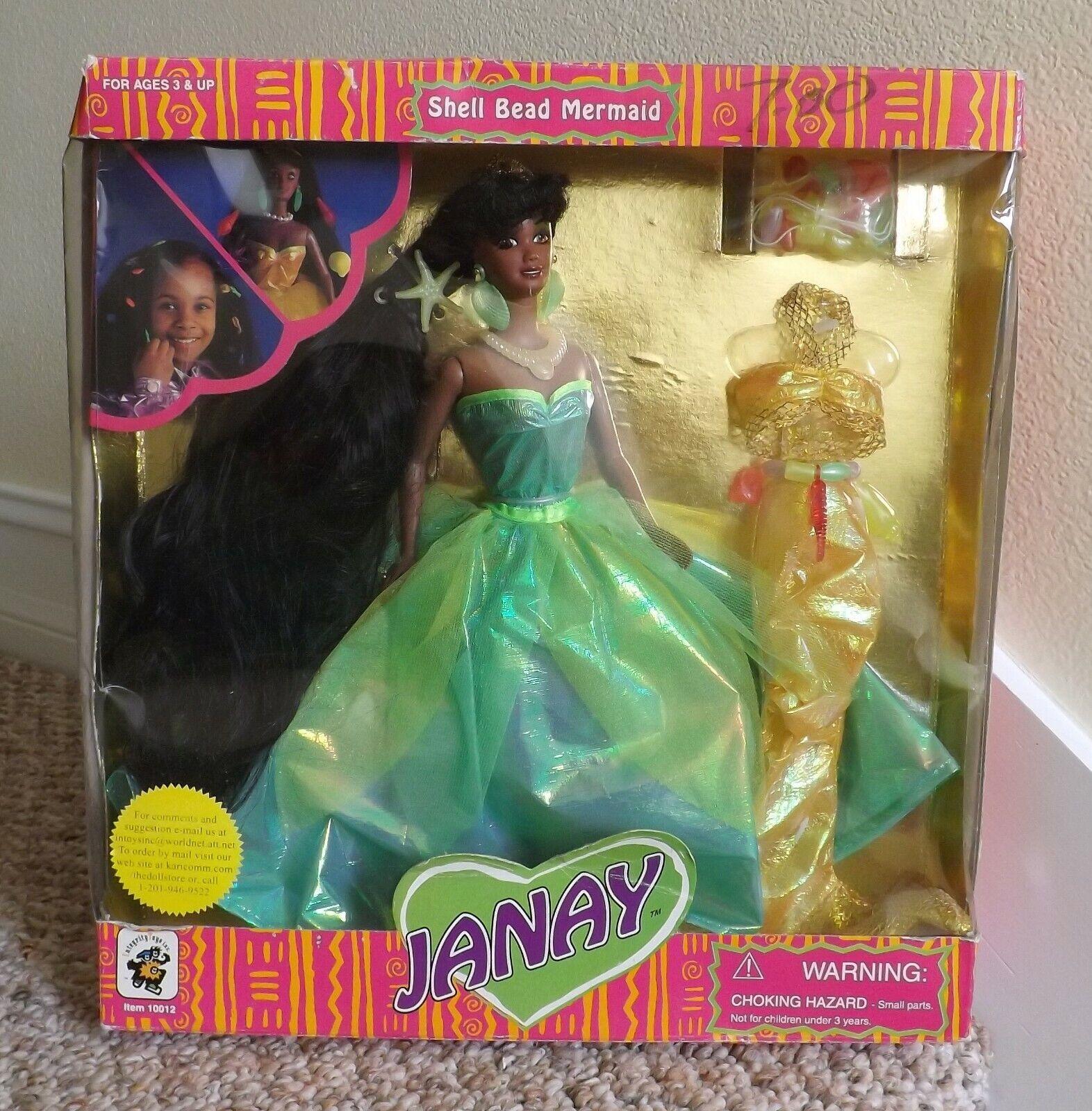 Nuevo en caja nunca quitado de la Caja 1995 Integrity Toys Janay Negro aa cáscara del grano Sirena Muñeca  Nuevo