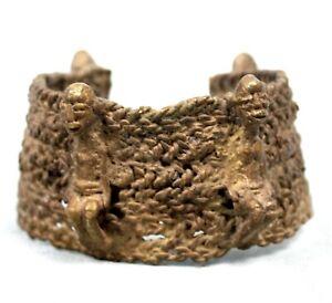 Arte Africano tribal - Bracelet IN Bronzo Lobi - Ethnic Anklet Jewel - 9,5 CMS