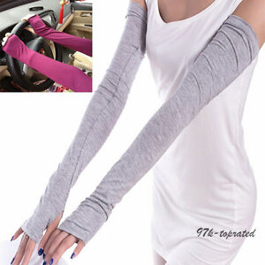 Women-Men-Sports-Arm-Sleeves-Cotton-Gloves-for-UV-Sun-Protection-Driving-Cover