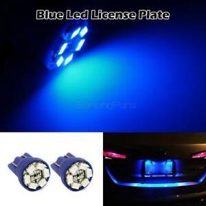 2pcs Blue T10 Wedge License Plate Led Lights 6-SMD LED 168 194 2825 for Licence 192840180483