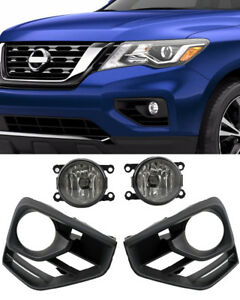 For 2017-2018 Nissan Pathfinder Fog Lights w//Wiring Kit Clear
