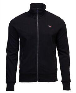 Superdry-Mens-New-Collective-Full-Zip-Track-Top-Sweatshirt-Long-Sleeve-Black
