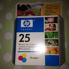 ORIGINAL HP Tri Colour 25 Inkjet Print Cartridge Printer Deskjet Deskwriter Etc