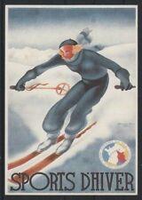 CPP220 CARTE POSTALE publicité LES SPORTS D'HIVER de GEORGES AROU