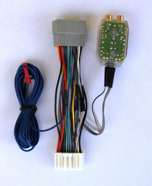 Factory Radio Amp Sub Interface Wire Harness + Inline Converter Installation Kit
