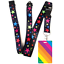 High-quality-ID-badge-holder-RAINBOW-STRIPES-amp-Secure-Lanyard-neck-strap-soft thumbnail 38