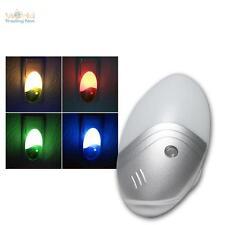 Sensor-Nachtlicht mit 1W LED - RGB Farbwechsel MULTICOLOR Schlummerlicht