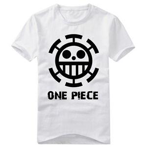 Anime-One-Piece-Trafalgar-Law-Cotton-T-shirt-Short-Sleeve-Tshirt-Casual-Tops-Tee