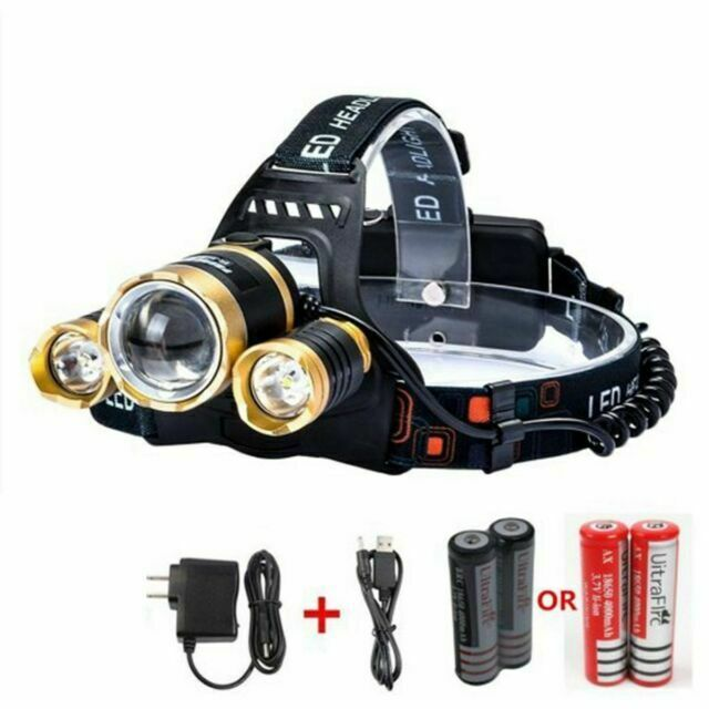 35000LM Rechargeable 5x T6 LED 18650 Headlamp Headlight Flashlight Torch Light
