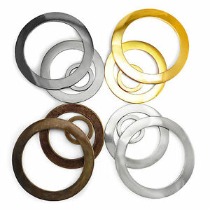 Solid cast closed O rings metal bags collars craft 9 15 18 26 29 40 51 56 mm