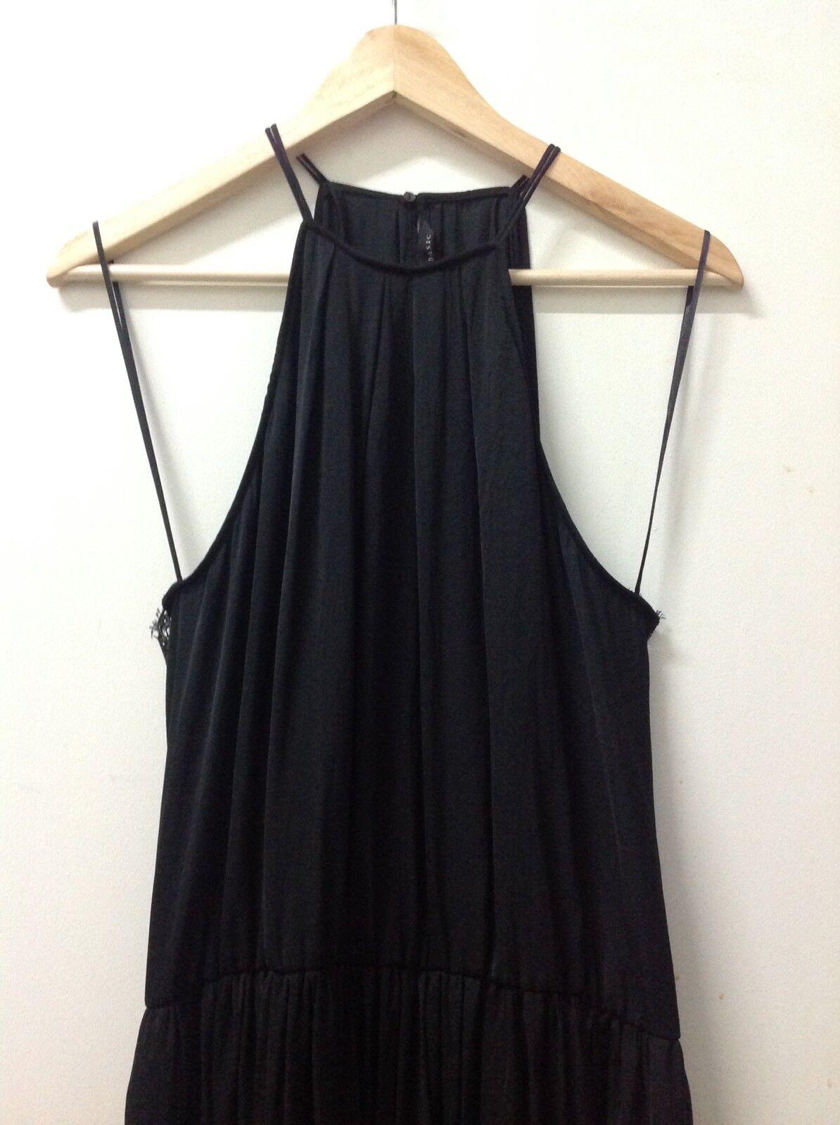 Zara Kleid Abendkleid Mit Spitze Schwarz Gr. L