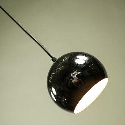 Logisch Chromkugel Pendel Leuchte Stahl Hänge Lampe Ø 15 Cm Vintage 60er 70er