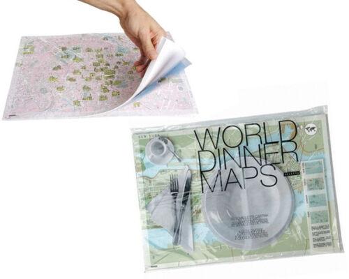 SELETTI World City Paris New York Tokyo London Dinner Maps Paper Placemats 50ct