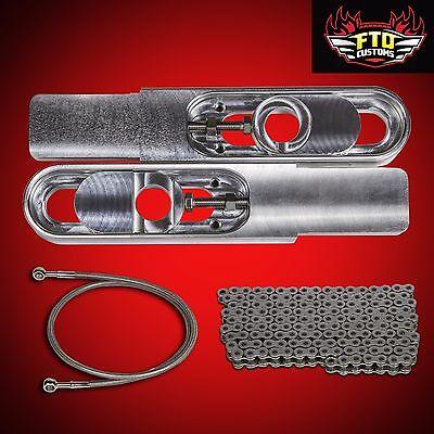 "ZX6-R Extension 2000 Ninja ZX6R Swingarm Extensions 36/"" Brake Line 525 Chain"