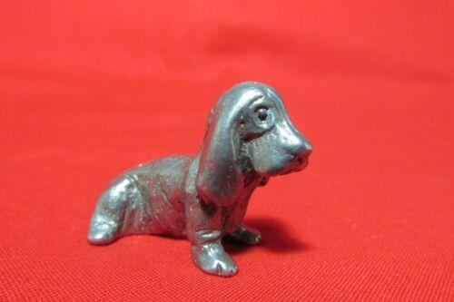 Pewter Basset Hound Dog Figurine