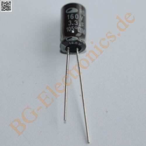 50 X 3,3 µf 3.3 uf 160v 105 ° Rm2.5 Elko kondensator capacito Samwha bienes de uso 50pcs