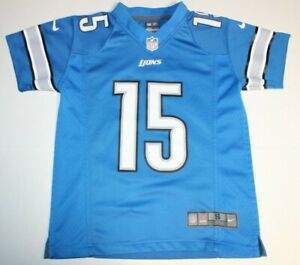 reputable site 9822b 67edc Details about NFL Football Detroit Lions Golden Tate III #15 Jersey Youth  Small Nike OnFeild