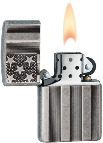 Zippo 28974 Flag Armor Antique Silver Patriotic 20152016 Choice Catalog Lighter
