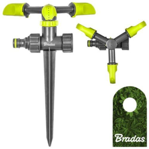 3-Arm Kreisregner mit Erdspieß Sprinkler Impulsregner Bewässerung Bradas 2143