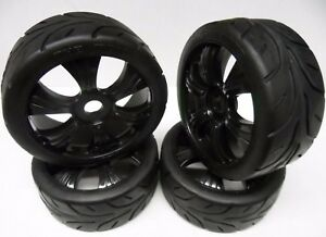Multi-Listing-4x-New-Absima-1-8-On-Off-Road-Buggy-Wheels-amp-Tyres-17mm-Hex-1-8