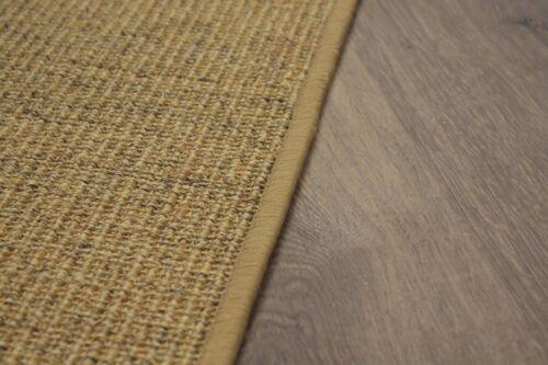 Sisal alfombra umkettelt jaspe 90x160cm 100/% sisal gekettelt