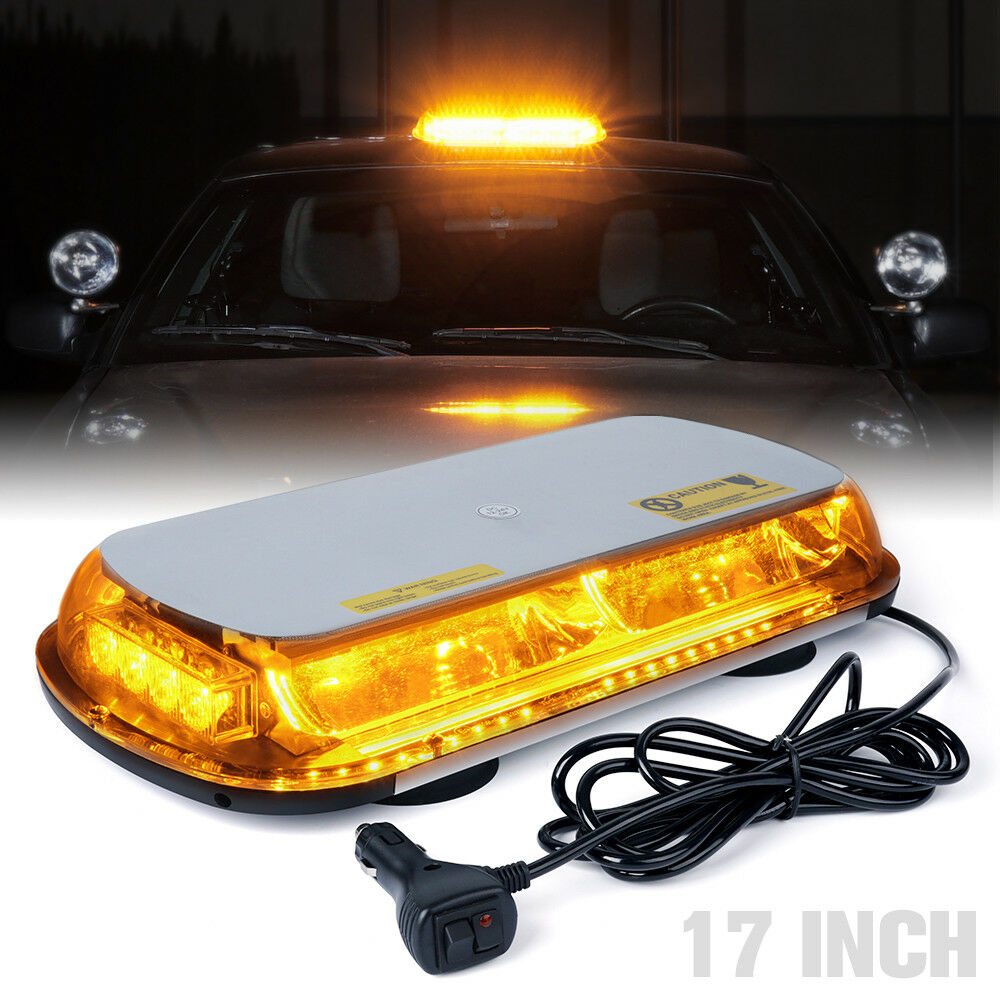 Details About 17 44 Led Rooftop Emergency Hazard Strobe Light Bar Amber Yellow 12v Snow Plow