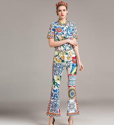 ITALY 2019 New Fashion Hot Runway 3D Flower Beading Women Long Coat  SMLXL