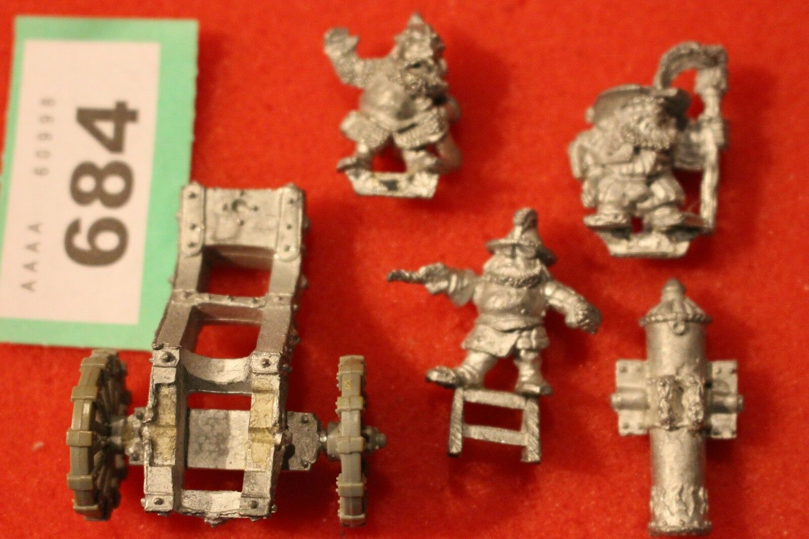 Warhammer Dwarf Siege Gun with Crew Miniatures Metal Games Workshop Cannon OOP