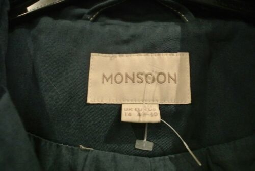 Monsoon denim 14 blu Giacca in Uk cotone doppio taglia nTx5zAH
