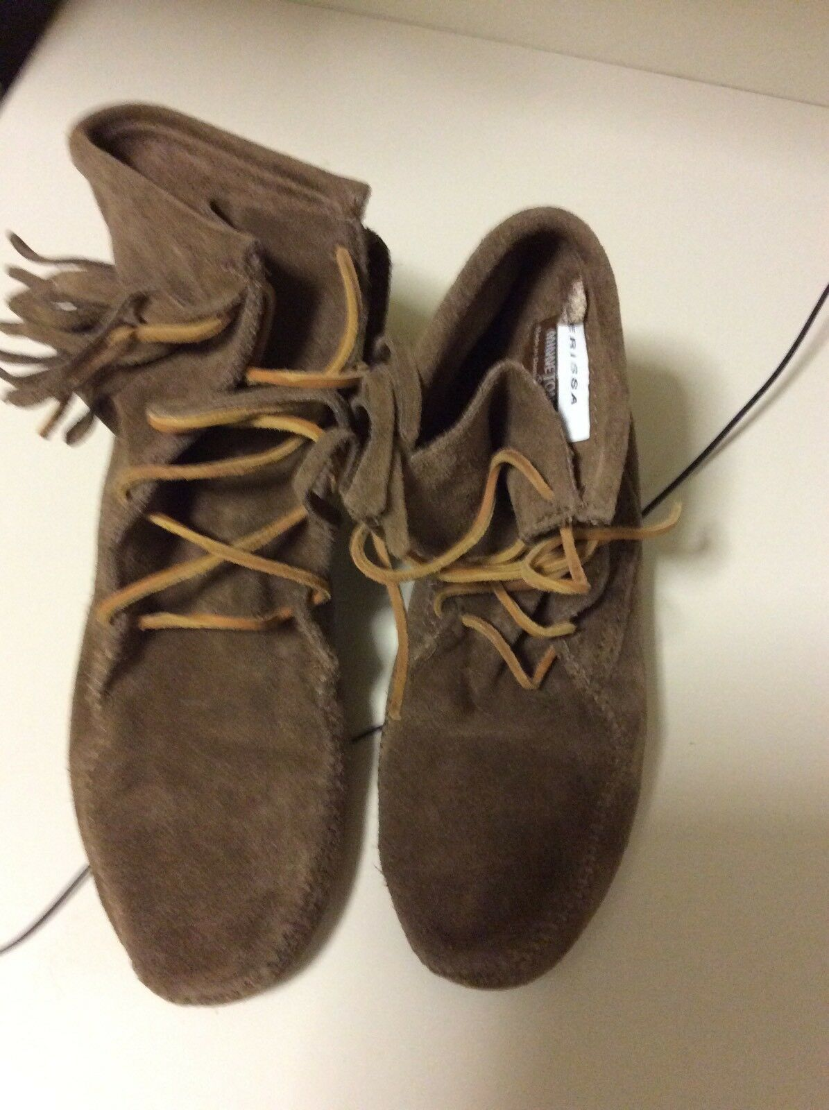Minnetonka Womans Boots Shoes Suede Size 7