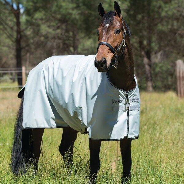 Horseware amigo Hero 6 turnout - 50g-plata & negro-weidedecke-lluvia manta