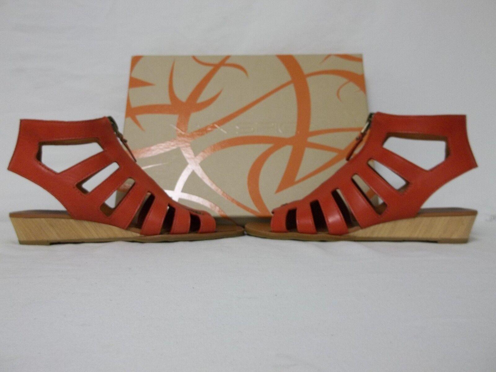 Via Spiga Größe 7.5 M Park ROT Leder Gladiator Gladiator Gladiator Sandales Wedges New Damenschuhe Schuhes 9d027a