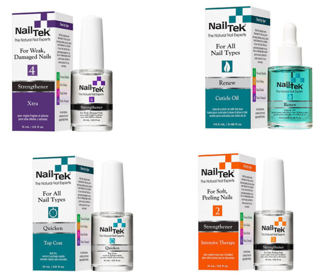 3 Bottles Nail TEK Intensive Therapy 2 Strengthener For Soft Peeling Nails 05oz