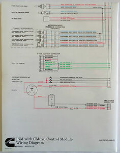 cummins laminated ism with cm876 control module wiring diagram ebay rh ebay com cummins ism injector wiring diagram cummins ism injector wiring diagram