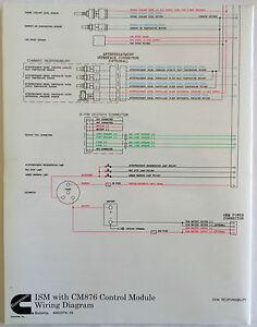 Cummins Laminated ISM With CM876 Control    Module       Wiring